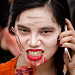 Is it a zombie, or just someone who can't put down her phone?