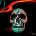 Skull Light Painted.