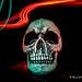 Skull Light Painted.